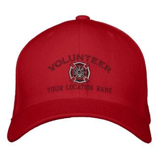 Bordado voluntario personalizado del bombero gorra de béisbol bordada