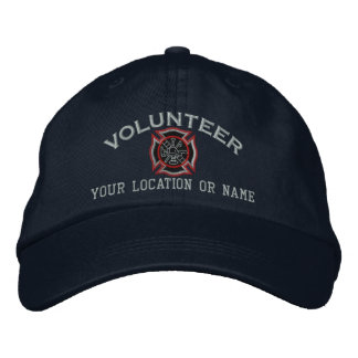 Bordado voluntario personalizado del bombero gorras de béisbol bordadas