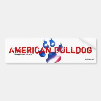 Bordador American Bulldog Etiqueta De Parachoque