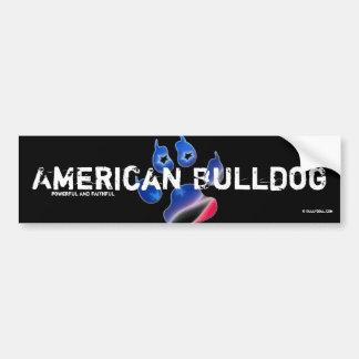 Bordador American Bulldog Pegatina Para Auto