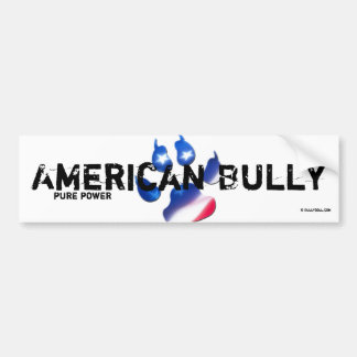 Bordador American Bully Pegatina Para Auto