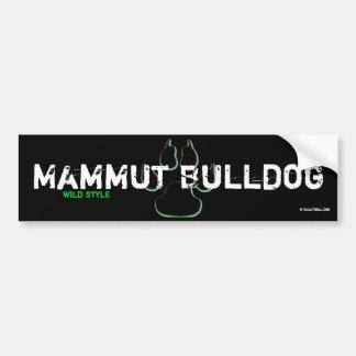 Bordador mamut Bulldog Pegatina Para Auto