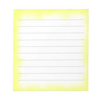 borde amarillo blocs de papel