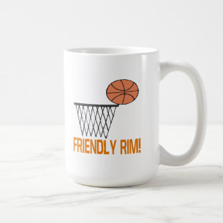 Borde amistoso taza básica blanca