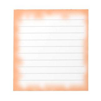 borde anaranjado medio libretas para notas