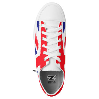 Borde áspero Union Jack, lengua blanca Zapatillas