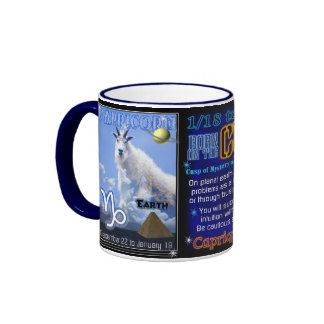 Borde azul LG del zodiaco del cambio de signo del  Taza A Dos Colores