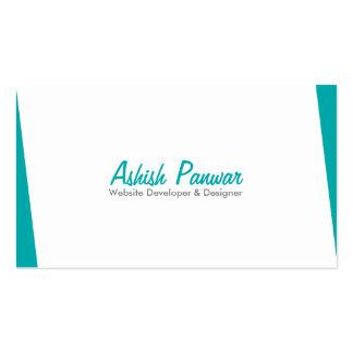 Borde azul sobrio tarjetas de visita