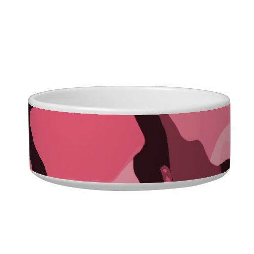 Borde Camo rosado; Camuflaje Tazones Para Agua Para Gatos