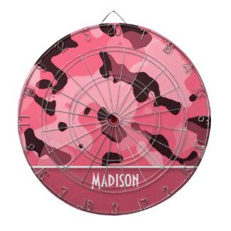 Borde Camo rosado Personalizado Tablero Dardos