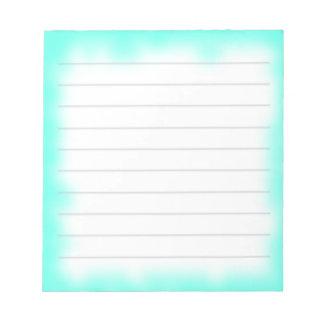 borde de la turquesa blocs de papel