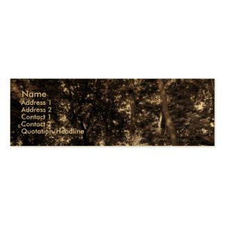 Borde de las maderas - oro tarjetas de visita mini