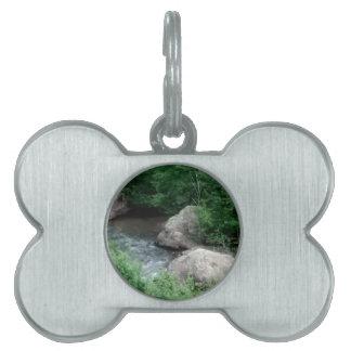 borde de los ríos placas de mascota