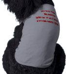 Borde de maquinillas de afeitar    BloodlineWhere  Camisa De Perrito