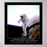 Borde de Newman del astronauta @ de la misión STS- Poster