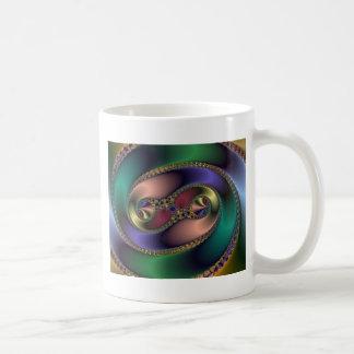 Borde de oro taza de café