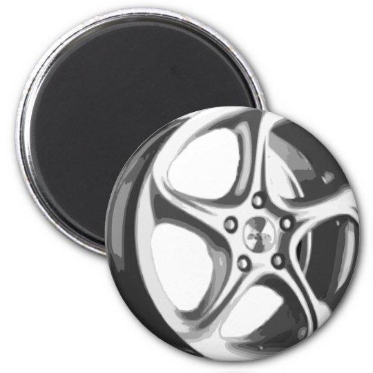 Borde decorativo del coche imán redondo 5 cm