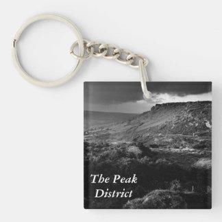 Borde del borde de Curbar en Derbyshire Llavero Cuadrado Acrílico A Una Cara