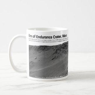 Borde del cráter de la resistencia, Marte Tazas De Café