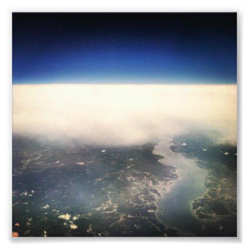 Borde del espacio impresion fotografica