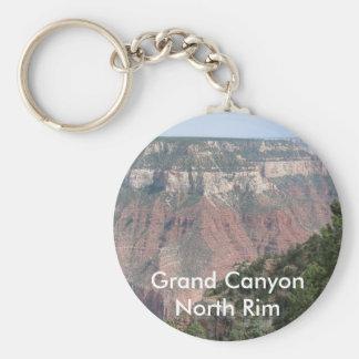 Borde del norte del Gran Cañón Llavero Redondo Tipo Pin