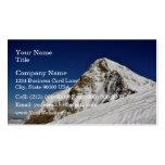 Borde del top de la montaña plantilla de tarjeta de negocio