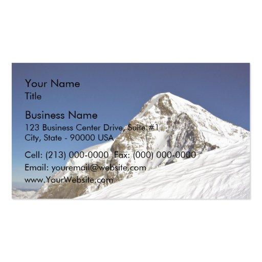 Borde del top de la montaña tarjetas de visita