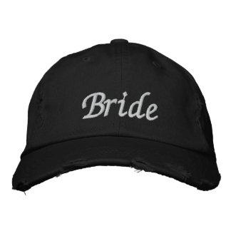 Borde el casquillo del gorra el   de la novia de l gorras de beisbol bordadas