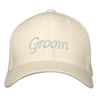 Borde el casquillo del gorra el | del novio de los gorra de beisbol bordada