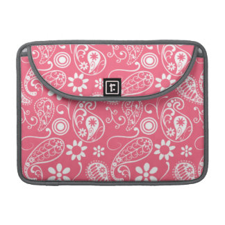 Borde Paisley rosada; Floral Fundas Para Macbooks