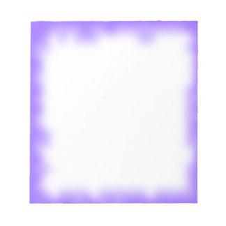 borde púrpura libretas para notas