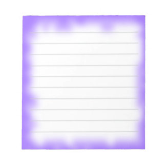 borde púrpura libreta para notas