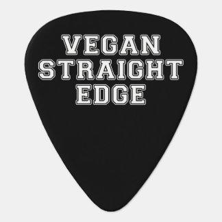 Borde recto del vegano plumilla de guitarra