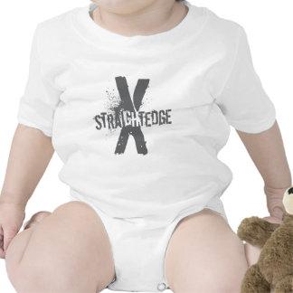 Borde recto X gris oscuro Traje De Bebé