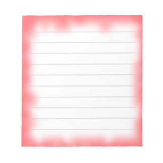 borde rojo libretas para notas