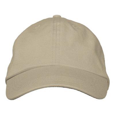 Borde su propio casquillo ajustable de color caqui gorras bordadas