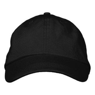 Borde su propio casquillo ajustable negro gorras de béisbol bordadas