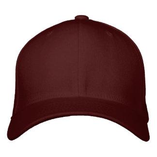 Borde su propio casquillo marrón de las lanas de F Gorras Bordadas