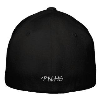 Borde su propio casquillo negro de las lanas de gorra de béisbol