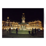 Bordeaux at night greeting cards