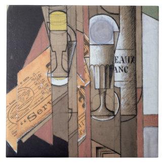 Bordeaux blanco, 1913 (aguazo y lápiz en el papel) azulejo cuadrado grande