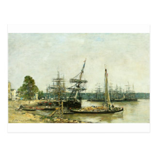 Bordeaux by Eugene Boudin Postcard