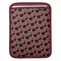bordeaux color bike pattern sleeve for iPads
