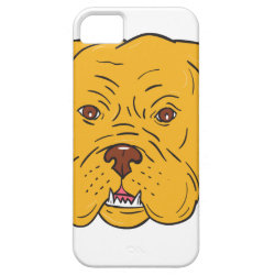 Bordeaux Dog Head Cartoon iPhone SE/5/5s Case