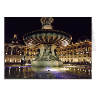 Bordeaux Fountain Card