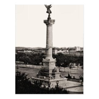 Bordeaux, France, column Postcard