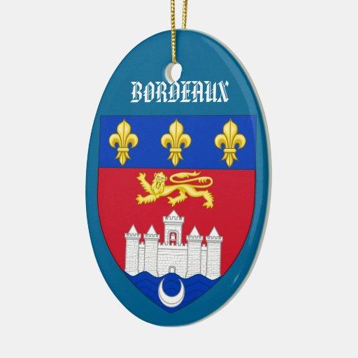 Bordeaux France Crest Christmas Ornament