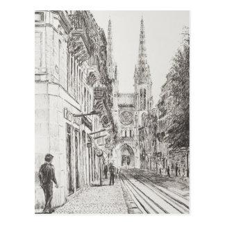 Bordeaux France. Twin spire.2010 Postcard
