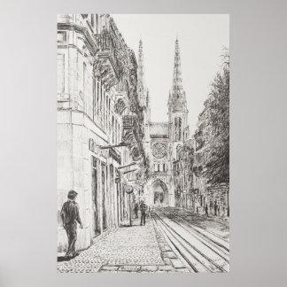 Bordeaux France. Twin spire.2010 Poster