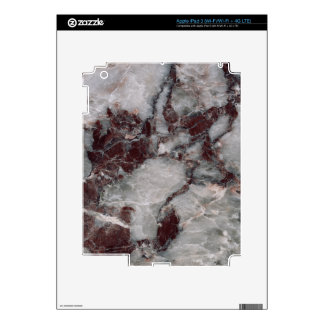 Bordeaux Grisso Decorative Stone - Rugged Beauty Skin For iPad 3